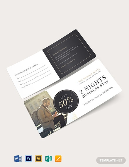 Business Travel Voucher Template