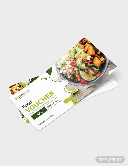 Editable Food Voucher Download