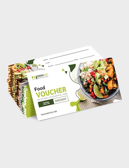 Sample Editable Food Voucher