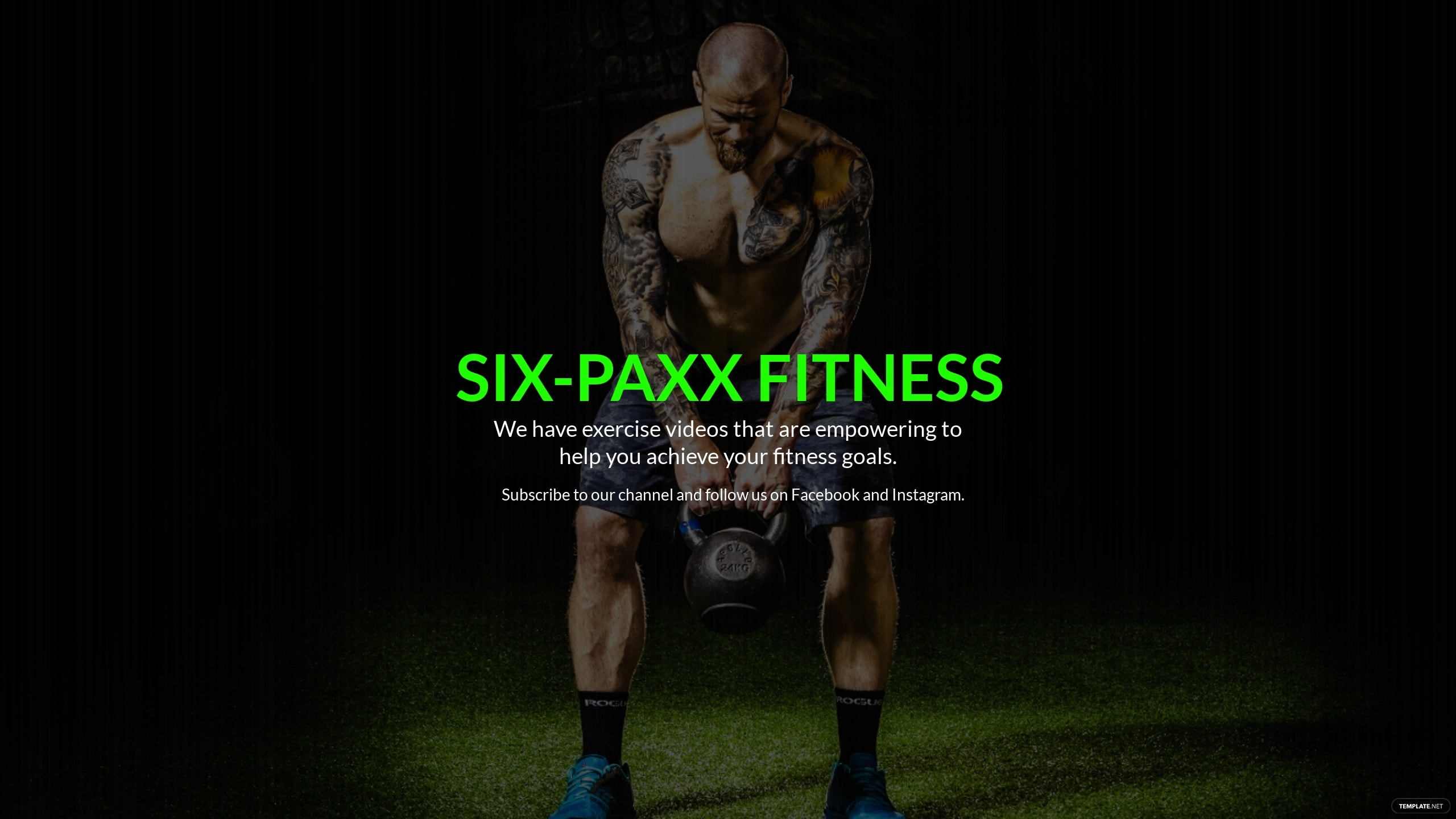 Free YouTube Channel Art Gym Template