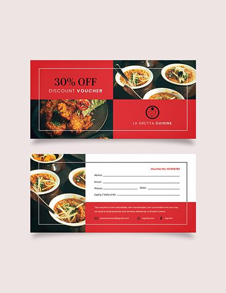 Editable Restaurant Voucher Download