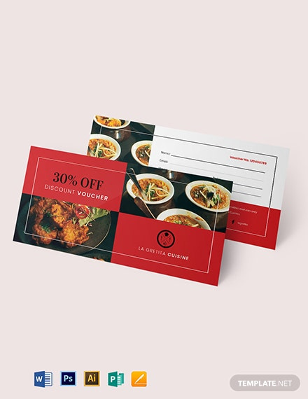 Editable Restaurant Voucher Template