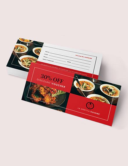Sample Editable Restaurant Voucher