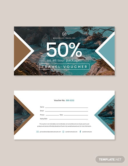 Editable Travel Voucher Template