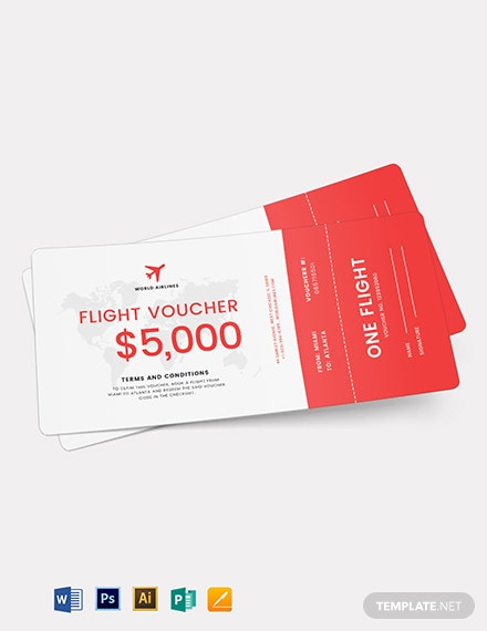 Flight Ticket Voucher Template