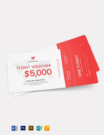 Flight Ticket Voucher Template