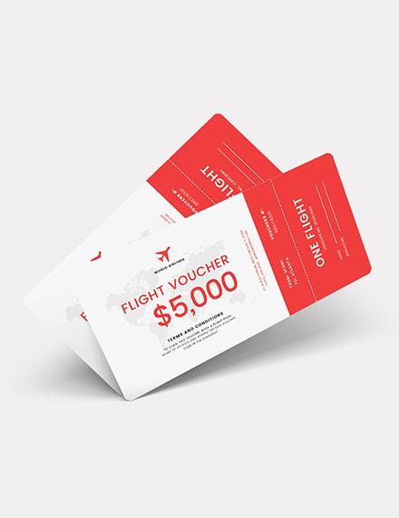 Sample Flight Ticket Voucher