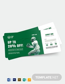 Football Ticket Voucher Template