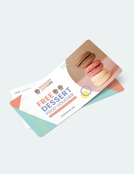 Dessert Food Voucher Download