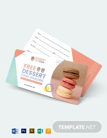 Dessert Food Voucher Template