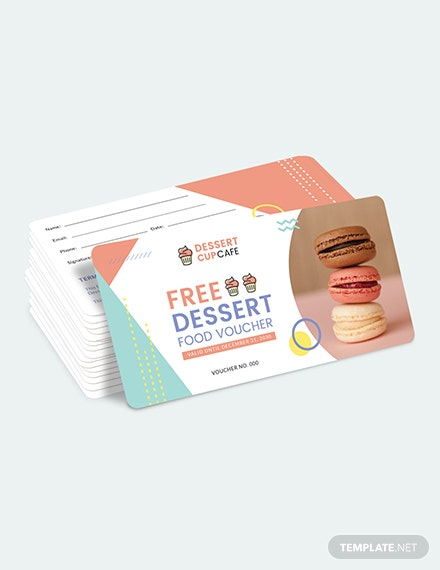 Sample Dessert Food Voucher