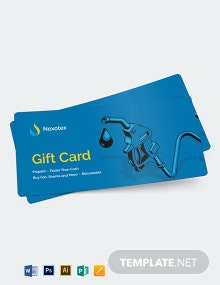 Fuel Card Gift Voucher Template