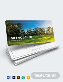 Golf Gift Voucher Template