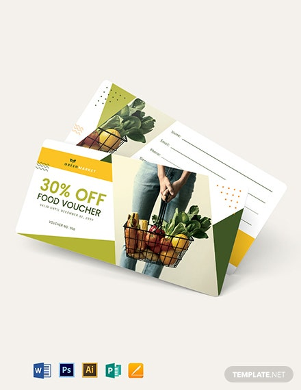 Grocery Food Voucher Template