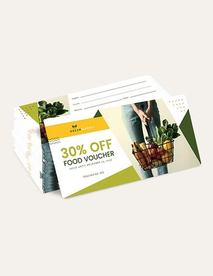 Sample Grocery Food Voucher