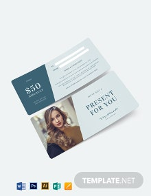 Hair Gift Voucher Template