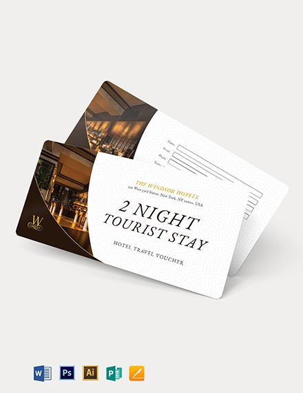 Hotel Travel Voucher Template