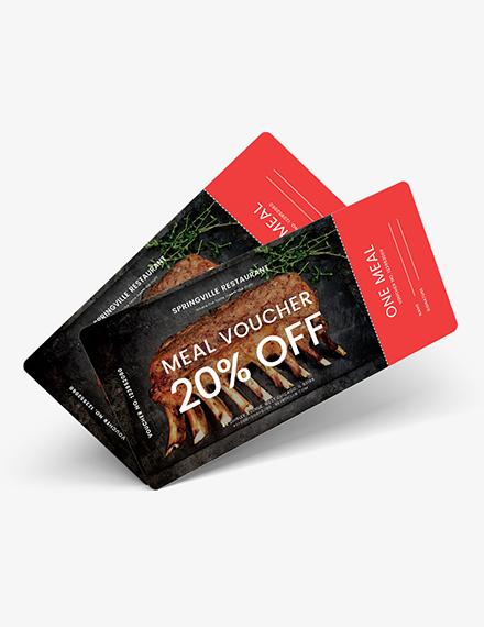 Sample Meal Ticket Voucher