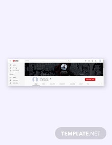Free YouTube Channel Art Lifestyle Template