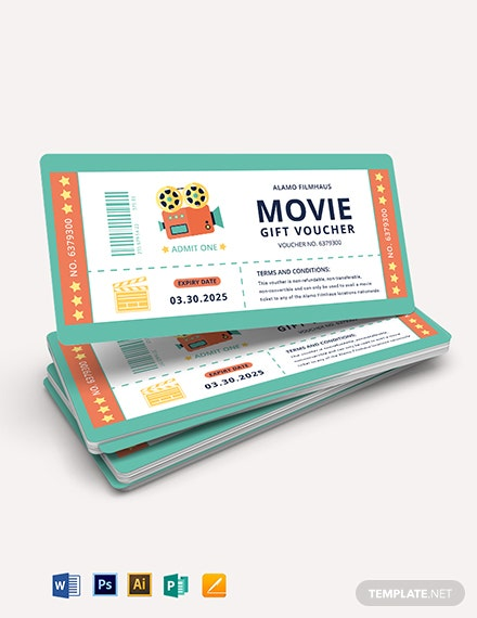 Movie Gift Voucher Template