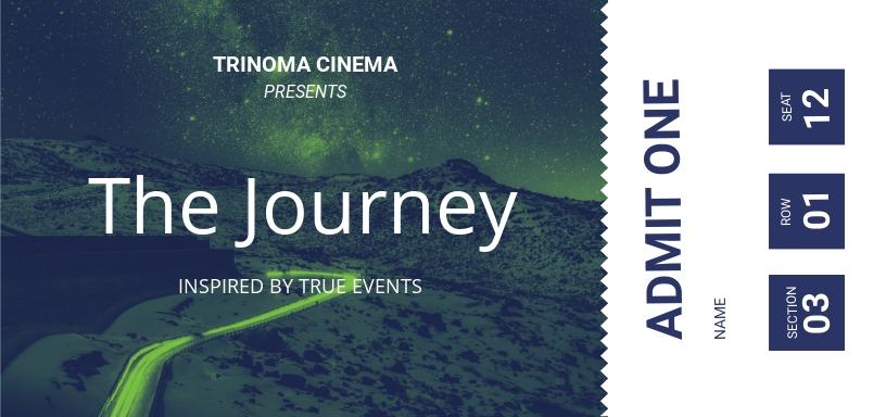 Movie Ticket Voucher Template