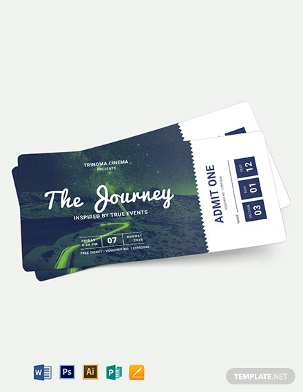Movie Ticket Voucher Template