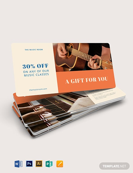 Music Gift Voucher Template