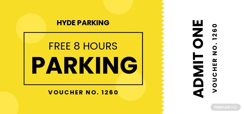 Parking Ticket Voucher Template [Free JPG] - Illustrator, Word, Apple Pages, PSD, Publisher