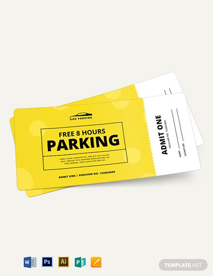 Parking Ticket Voucher Template