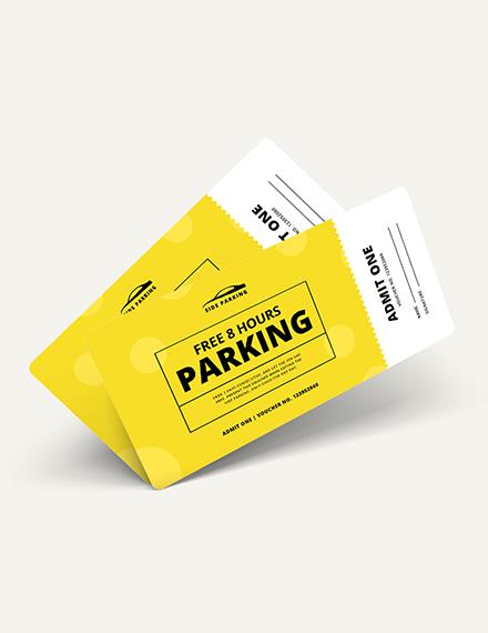 Sample Parking Ticket Voucher