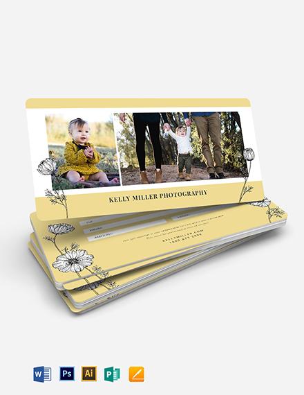 Photoshoot Gift Voucher Template