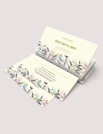 Sample Printable Gift Voucher