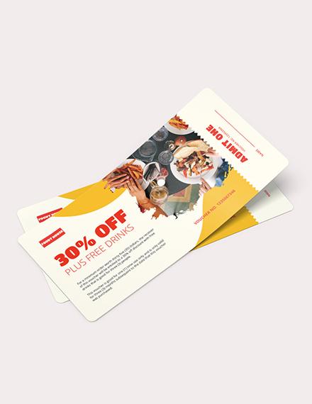 Printable Ticket Voucher Download