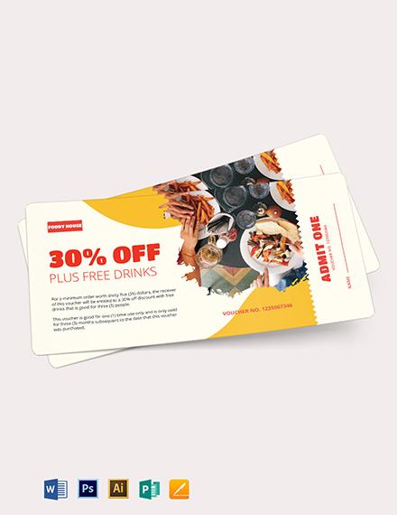 Printable Ticket Voucher Template