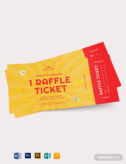 Raffle Ticket Voucher Template