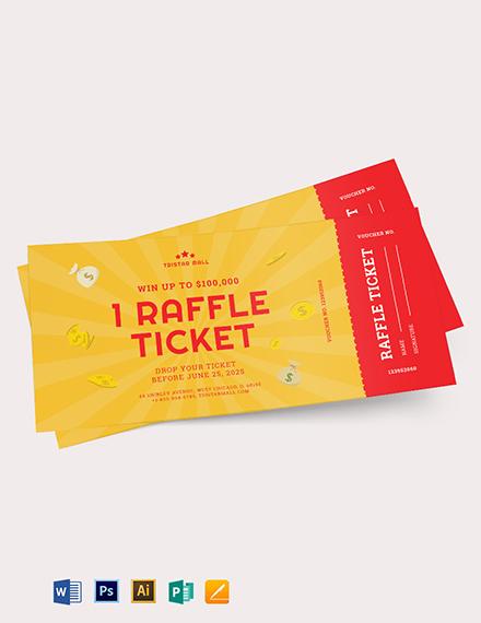 Raffle Ticket Voucher Template