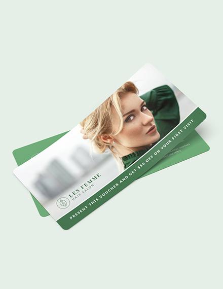 Salon Gift Voucher Download