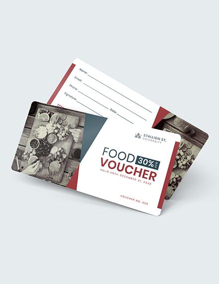 Sample School Food Voucher