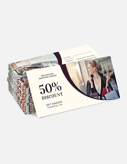 Sample Shopping Gift Voucher