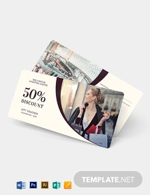 Shopping Gift Voucher Template