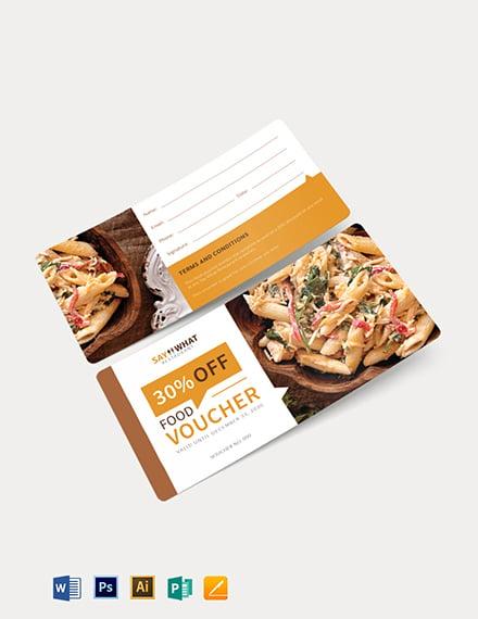 simple food voucher template