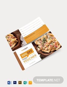 Simple Food Voucher Template