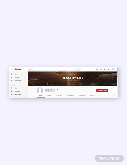 Free Lifestyle YouTube Channel Template