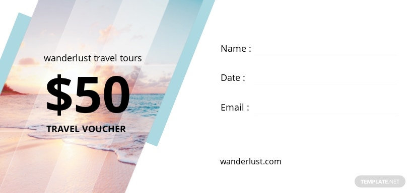 Summer Travel Voucher Template