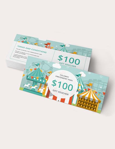 Sample Theme Park Gift Voucher