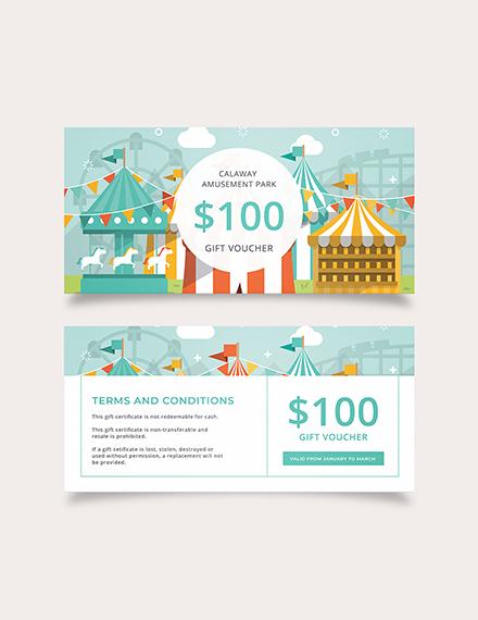 Theme Park Gift Voucher Download