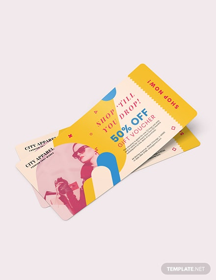 Ticket Gift Voucher Card Download