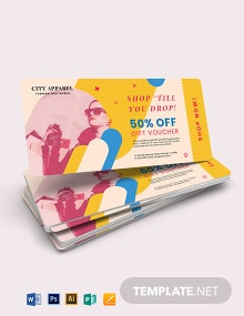 Ticket Gift Voucher Card Template