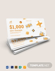 Ticket Gift Voucher Template