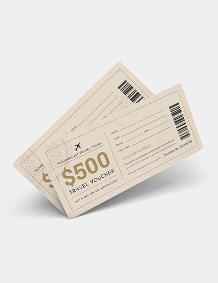Sample Travel Ticket Voucher